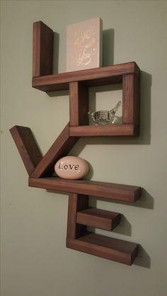 Wall Mounted Love Shelf
