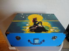 Hand Painted Disney Little Mermaid Decorative Jewelry Box