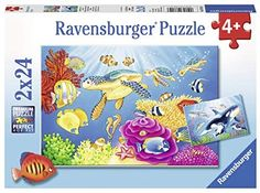 Vibrance Under the Sea - Jigsaw Puzzle By Ravensburger Ravensburger Puzzle, 100 Piece Puzzles, Jigsaw Puzzles, Kids Canvas, Wall Canvas, Under The Sea Images, Ikea Ps, Wicker Hearts, Underwater Creatures