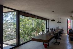 Modern Construction Houses an Office Complex in Yucatan, Mexico
