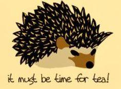 Hedgie tea time