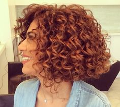 Resultado de imagem para stacked spiral perm on short hair Spiral Perm Short Hair, Short Hair Cuts, Perms For Short Hair, Bob Haircut Curly, Curly Bob Hairstyles, Short Curly Hairstyles For Women, Medium Hairstyle, Latest Hairstyles, Natural Hairstyles