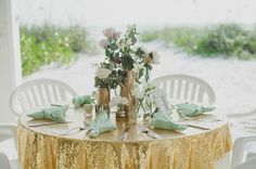 Mint and gold wedding | Real Weddings and Parties | 100 Layer Cake