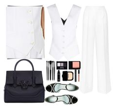 """""""b&w"""" by leticiacarloni on Polyvore featuring Dolce&Gabbana, Marc Jacobs, Ultimo, Versace, Illamasqua, NYX, MAC Cosmetics, NARS Cosmetics, Maybelline and Chanel"""