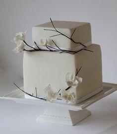 white twig cake - by Happyhills Cakes @ CakesDecor.com - cake decorating website