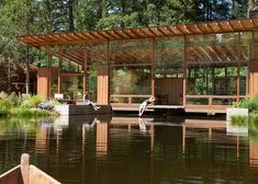 SPACED | Quiet Oregon Pond Getaway Clad In Glass & Douglas Fir Would Suit Bowen Island