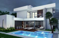 Modern Villa Design, Modern Contemporary Homes, Rest House, My House, House Fence Design, Dream Mansion, Luxury Homes Dream Houses, Style Deco, Dream Home Design