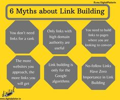 It's not enough to have a well designed website and templates to drive traffic to your website. So first we need to understand that increasing the ranking of your website can help to attract the attention of customers towards our website. know the 6 Myths about Link building in SEO.  #LinkBuilding #LinkPopularity #SEOStrategies #SEORanking #DigitalPlatter #DigitalMarketingServiceProvider #DigitalMarketingCompany #DigitalMarketingAgency #Nagpur #Branding #OnlineMarketing #SEO #Website Digital Marketing Services, Email Marketing, Content Marketing, Social Media Marketing, Seo Ranking, App Development, Enough Is Enough, Image Sharing, Branding