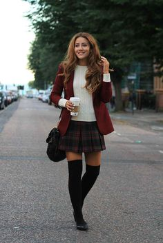 Osomme....  Luv dis..  red-black check cross skirt...  Bud combo..comfy and girly too