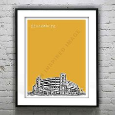 Blacksburg Virginia Poster Art Print  VT on Etsy, $18.95