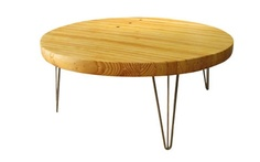 Hairpin Coffee Table made from reclaimed bowling alley wood   # Pin++ for Pinterest #