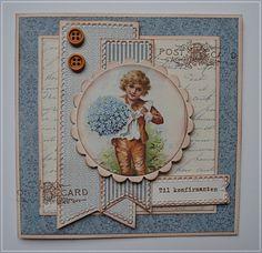 3 konfirmant kort med samme oppsett:) Step Cards, Diy Cards, Vintage Scrapbook, Scrapbook Cards, Confirmation Cards, Dere, Die Cut Cards, Card Maker, Vintage Cards