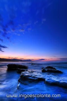 blue sunset