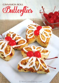 Cute as a butterfly and so easy to make. Just 2 ingredients! Great for Mother's Day and the kids can help too.