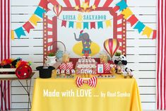 Festa Aniversário | Circo  birthday decorations // party decorations ideas // circus Birthday Decorations, Birthday Cake, Party, Themed Parties, Ideas, Anniversary Decorations, Birthday Cakes, Receptions, Cake Birthday