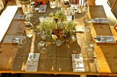 The dinner table...Perfectly simple and elegant!