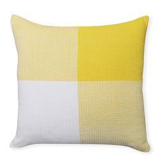 Box Check Yellow Cushion 50cm