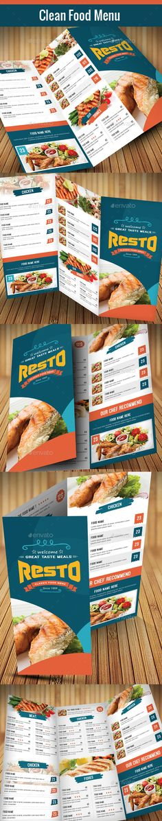 Modern Food Menu Template #print #design Download: http://graphicriver.net/item/modern-food-menu2/12028347?ref=ksioks