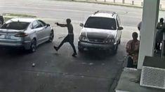 Video shows Detroit gas station shooting; 2 men wanted Bp Gas, White Baseball Cap, White Belt, Gas Pumps, Ford Fusion, Gas Station, Detroit, Men, Guys