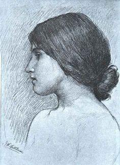Head of a Girl, JW Waterhouse