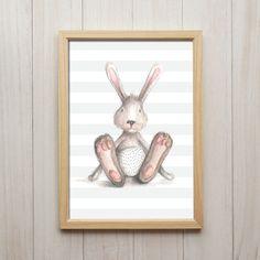 Bild Baby Hase Kunstdruck A4 Bunny Süße Kinderzimmer Deko Poster Geschenk in Möbel & Wohnen, Dekoration, Bilder & Drucke | eBay