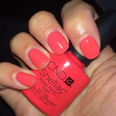 "Opi Shellac Nail Colors Best Of Nailsbyalexi Cnd Shellac ""tropix"" - shellac nails Red Shellac Nails, Gel Pedicure, Manicure Colors, Manicure Y Pedicure, Nail Polish Colors, Cnd Shellac Colors 2018, Pedicure Ideas, Gel Polish, Cnd Colours"