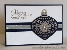 Stampin' Up! 'Delicate Ornaments' Thinlits. Judy May, Just Judy Designs.