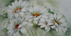 Arte Floral, Watercolor Drawing, Painting & Drawing, Multiple Canvas Art, Flower Mural, Daisy Art, Acrylic Pouring Techniques, Flower Stands, Stone Painting