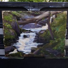 So this is what became of the least favourite panel from my last post. Battled it out underneath a scorching sun for three hours today before I fled to the shade of my backyard and finished it up. Starting to think an umbrella might be a good idea for plein air painting no matter the weather... 🤔 #thesunishot #blazingnews #mypoorneck