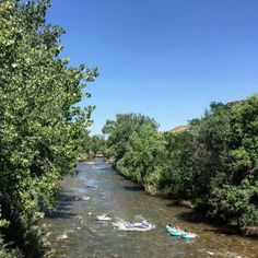 It's a beautiful day for a #float along the #river! #clearcreek #golden #boulder #colorado