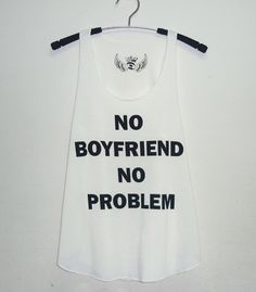 Off white top size XS/S Funny message tank top No by StoneTshirts, $12.50