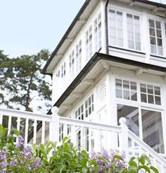 The way the top floor is, the windows like that for loft conversion bedroom dormer. Cottages And Bungalows, Beach Cottages, Loft Conversion Bedroom, Little Cottages, Storybook Cottage, Beach Cottage Style, Scandinavian Home, Nantucket, My Dream Home