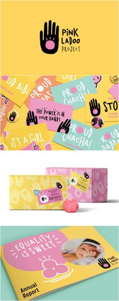 Smashing Gender Inequality, Raising Awareness of Gender-Bias Design Agency: Kiss Branding Brand / Project Name: The Pink Ladoo Project Corporate Branding Location: United Kingdom Category: #NonProfit World Brand & Packaging Design Society