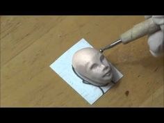 Part 1 commission progress in work doll head - YouTube