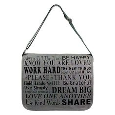 Ask Alice Quoted printed canvas messenger bag with 8 internal pockets and adjustable strap. Alice Quotes, Quote Canvas, Simple Quotes, Canvas Messenger Bag, All Gifts, Printed Bags, Kind Words, Online Gifts, Laugh Out Loud