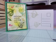 """made by sandie irving """"stamps by me ltd"""" gold box and stamps"""