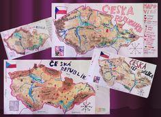 Mapa ČR - 4. třída
