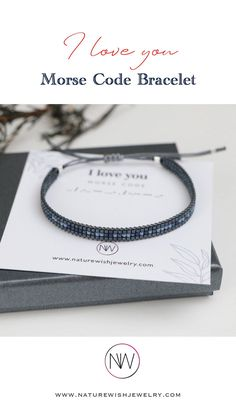 Whatever the message and story behind it, I am honored to provide a bracelet that means so much more to people than just a beautiful piece of jewelry. #morsecodebracelet #beadedbracelet #unisexbracelet #morsecodejewelry Morse Code Bracelet, Beaded Wrap Bracelets, Valentines Day Gifts For Him, Meaningful Gifts, Bracelet Making, Seed Beads, Natural Gemstones, Mindfulness, Coding