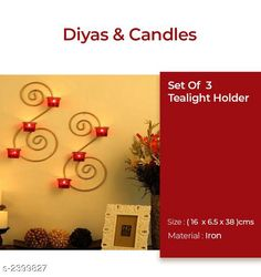 Checkout this latest Votive Candle holders_2000-2500 Product Name: *Stylish Iron Home Decor* Material: Iron Size (L X H): 16 cm x6.5 cm x 38 cm Description: It Has 2 Set Of  Metallic Gold Wall Candle Holder Country of Origin: India Easy Returns Available In Case Of Any Issue   Catalog Rating: ★4.3 (208)  Catalog Name: Trendy Stylish Iron Home Decors Vol 1 CatalogID_321153 C128-SC1604 Code: 073-2399827-228