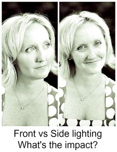 When should you use front lighting vs side lighting and what's the difference?