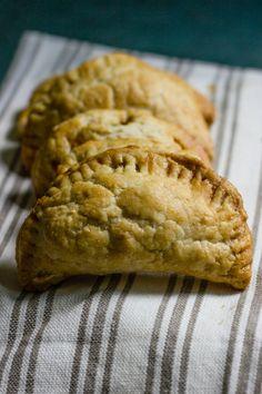 wholemeal hand pies with pumpkin, leek + chickpeas