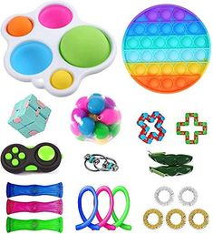 Figet Toys, Kids Toys, Pop It Toy, Cool Fidget Toys, Pop Bubble, Spinner Toy, Cheap Toys, Barbie Birthday, Diy Crafts