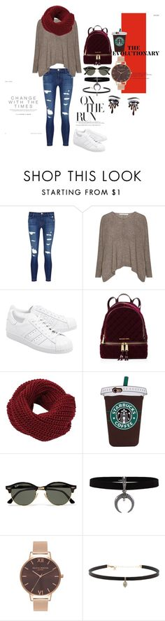 """Untitled #329"" by andel23 on Polyvore featuring J Brand, adidas Originals, MICHAEL Michael Kors, Ray-Ban, Olivia Burton and Carbon & Hyde"