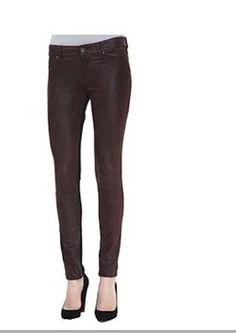dl 1961 Skinny Jeans emma leggings brown leather black size 29 new