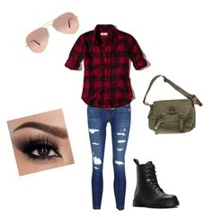 """""""One Of the Boys"""" by lexi-everdean on Polyvore featuring J Brand, Hollister Co., Dr. Martens, Ray-Ban and Ralph Lauren"""