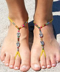 Yellow Mask Barefoot Sandals