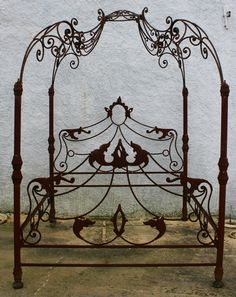 Detailed wrought iron bed frame - pretty; however, that gorgeous shade of coral is what truly sets off its beauty! Description from pinterest.com. I searched for this on bing.com/images