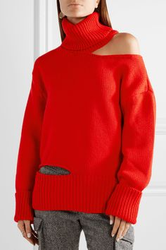 Monse | Cutout wool turtleneck sweater | NET-A-PORTER.COM