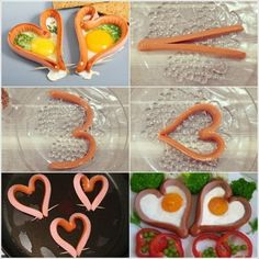 A romantic breakfast for two, with eggs and sausages. Romantic Valentines Day Ideas, Romantic Breakfast, Perfect Breakfast, Sausage And Egg, Creative Food, Food Hacks, Food Art, Good Food, Easy Meals