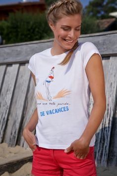 """""""Comme une belle journée ... de vacances""""  - http://commeunebellejournee.com/tee-shirt/"""